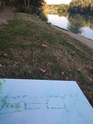 peinture bord de Marne